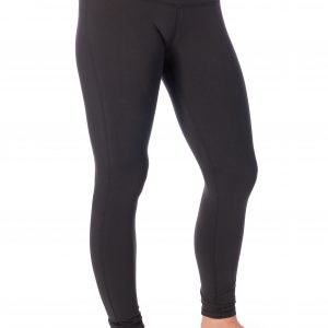 A model wearing Thomas Michael Fashions' black So Soft Yoga Pants